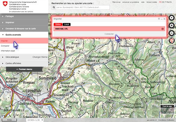 help.geo.admin.ch Du Map on